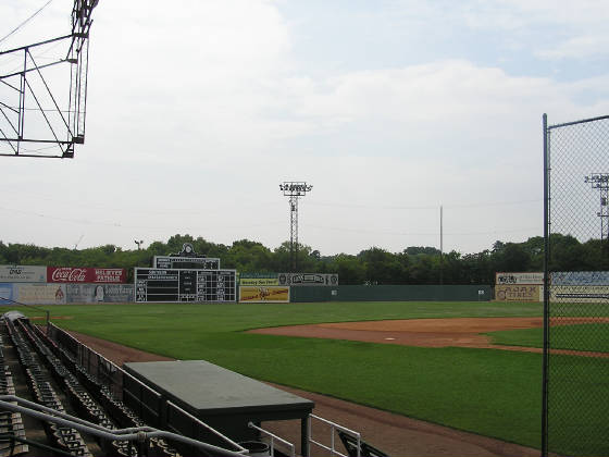 Looking out to Left Field - Rickwood Field
