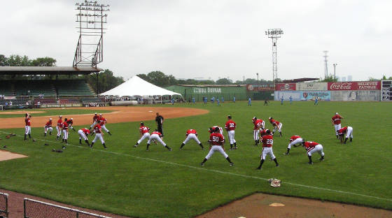 Pre Game stretching - Rickwood Field