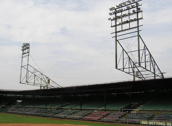 The light towers at Rickwood Field