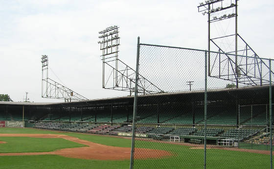 The classic light towers at Rickwood