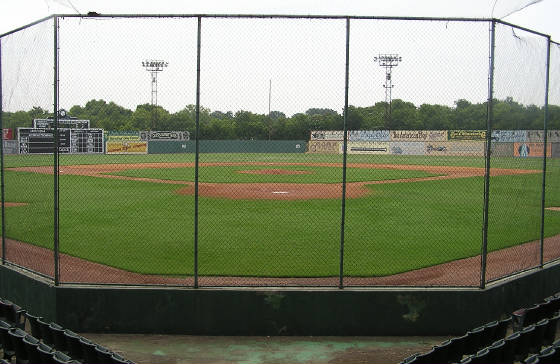 The view of the field - Rickwood Field