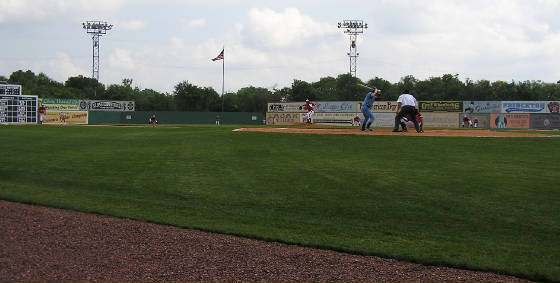 The pitch at the Classic - Rickwood Field