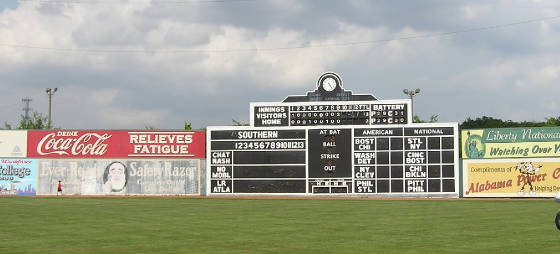 The Classic Rickwood scoreboard