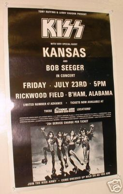 A classic poster from a Concert held here